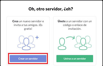 crear servidor de discord