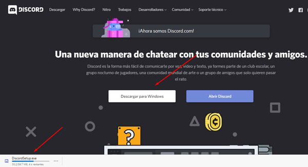descargar discord para windows 10