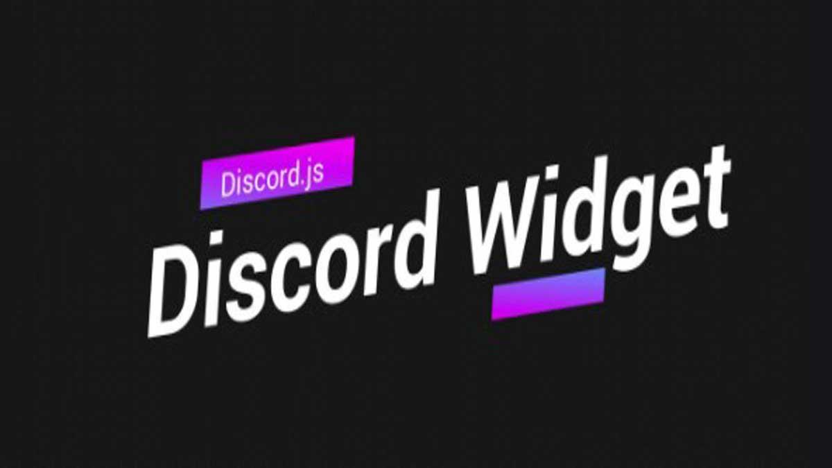 cómo agregar un widget de servidor de discord