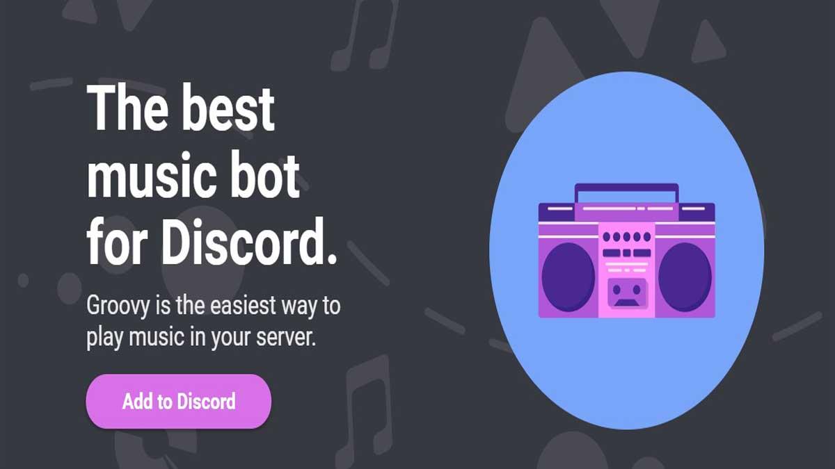 groovy bot para discord