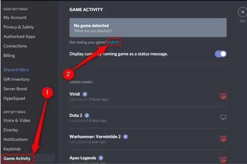 game activity